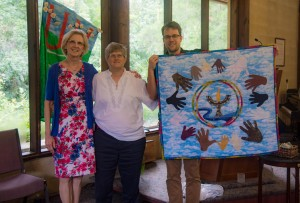 Pictured (L to R) are UUCT Supporting Friend Chris Hanna, Interim Minister Rev. Charlotte Lehmann, and Lee Chipps-Walton (the leading energy behind our UU Tallahassee-Kisii Partnership Committee)